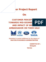 Major Project - Customers Perception Towards Mid Segment Cars and Impact of Brand Ambassador on Their Sale 3135