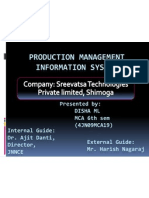 Production Management Information System