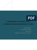 E-Distribution Network and E-Retailing of Pharmaceuticals in India