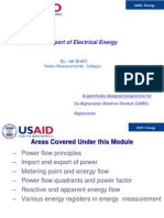 Import and Export of Electrical Energy 170510