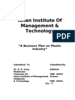 Business Study on Plastic Industry New Format