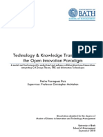 Technology & Knowledge Transfer Under the Open Innovation Paradigm - Parraguez