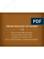From Images to Word