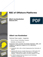 RBI of Offshore Platforms Albert Van Roodselaar
