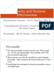 Personality and Personal Effectiveness