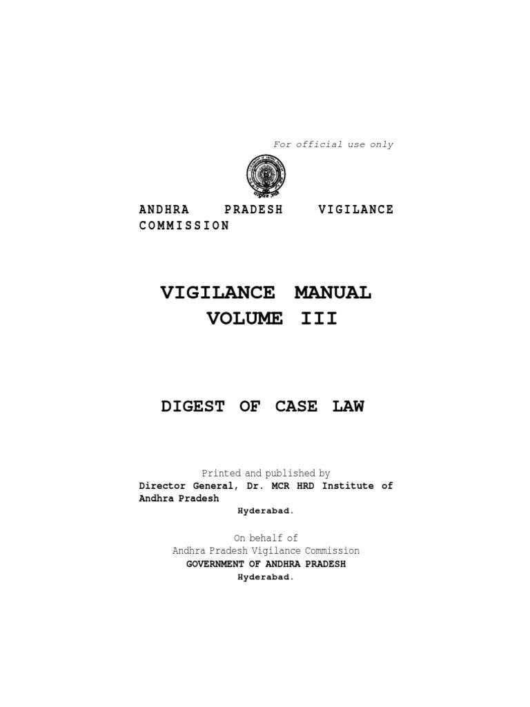vigilance manual volume iii evidence law witness