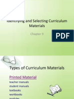 Identifying and Selecting Curriculum Materials