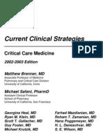 CURRENT CLINICAL STRATEGIES - CRITICAL CARE MEDICINE (LB. ENGLEZĂ)