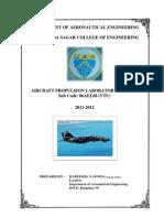 Propulsion Laboraory Manual DSCE 06AEL68