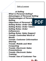 Report on Personal Selling