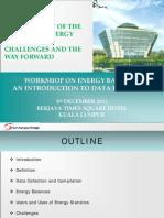 Energy Statistics in Malaysia[1]