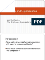 Job Satisfaction the Challenges Organizations Face