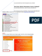 Ghid de Accesare a Cursurilor Online Microsoft Excel, Word, Power Point, Access, Outlook (en)