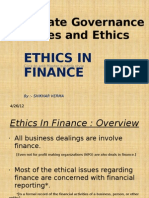 Corporate Governance Values and Ethics