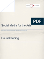 Social Media for the Arts