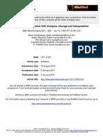 CNV-WebStore Online CNV Analysis, Storage and Interpretation