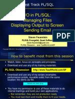 IO in PLSQL