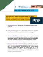 Programme Aide Aux PME Indre