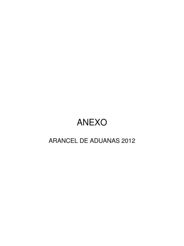 Arancel-2012