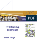 my internship experience - wilmington hope commission