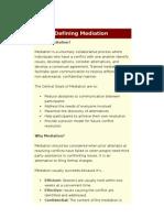 Defining Mediation