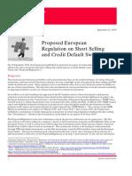 Proposed European Regulation