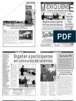 Versión impresa del periódico El mexiquense 26 abril 2011