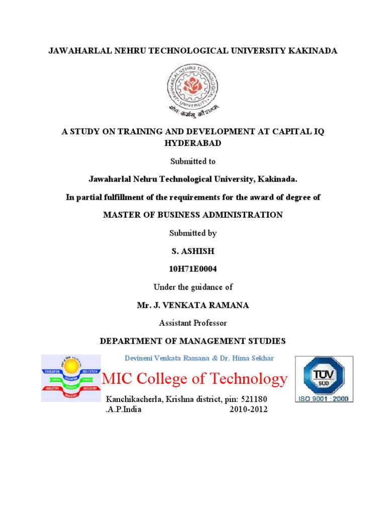 Project T&D at Capital IQ  FINAl   Employment   Simulation