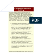 Three Stages of Consensus Building
