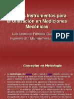 Algunos Instrumentos para la utilización en mediciones Mecánicas