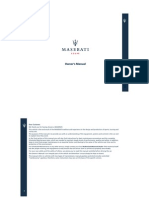 Maserati Owners Manual