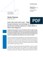 Sappi Press Release - What's Next Issue 5 (Layar Application)