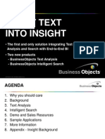 Business Objects Intelligent Search and Text Analysis 26126335