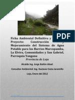Ficha Ambiental Definitiva y PMA del Proyecto