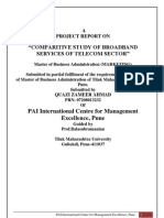 Comparative Study of Broadband in Telecom Sector With Airtel Communications by Zamir Kazi