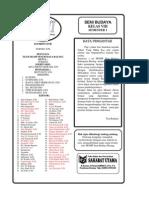 Buku Ajar Seni Budaya Kelas 8 MGMP Kab. Batang Semester 1