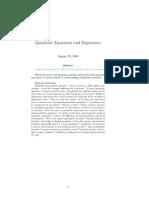 Quadratic Equations Expressions