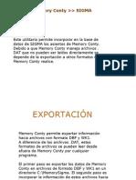 Exportacion Del Memory Al Sigma Pro