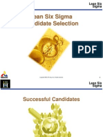 Lean Six Sigma Candidate Selection