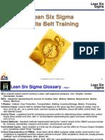 Lean Six Sigma Glossary
