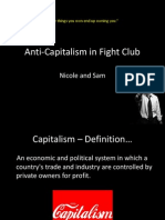 Anti-Capitalism in Fight Club