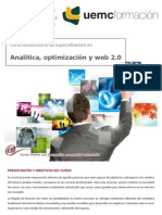 CURSO UNIVERSITARIO DE ESPECIALIZACIÓN EN ANALÍTICA, OPTIMIZACIÓN Y WEB 2.0