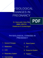 Physiologic Changes Pregnancy