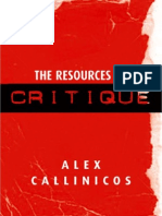 Callinicos the Resources of Critique