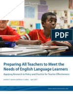 Preparing All Teachers to Meet the Needs of English Language Learners