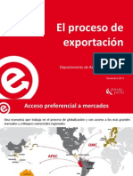 proceso de exportacion