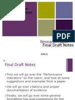 Final Draft Notes