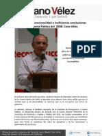 25-04-12 Corrupción, discrecionalidad e ineficiencia conclusiones de la Cuenta Pública del  2008