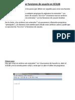 Como Crear Funciones de Usuario en Scilab