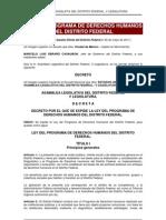 Ley Del Programa de Derechos Humanos Del DF